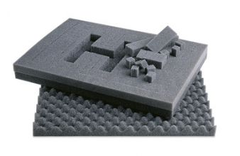Knob and grid foam